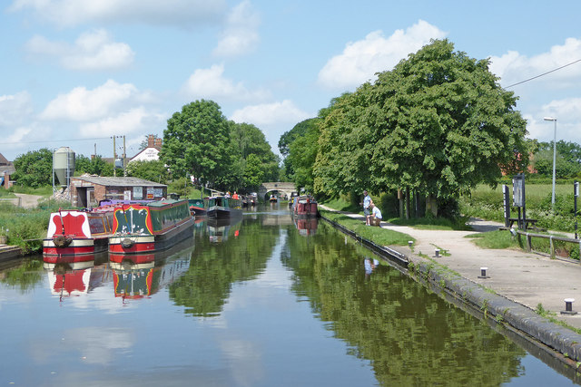Canal east of Wheaton Aston in Staffordshire