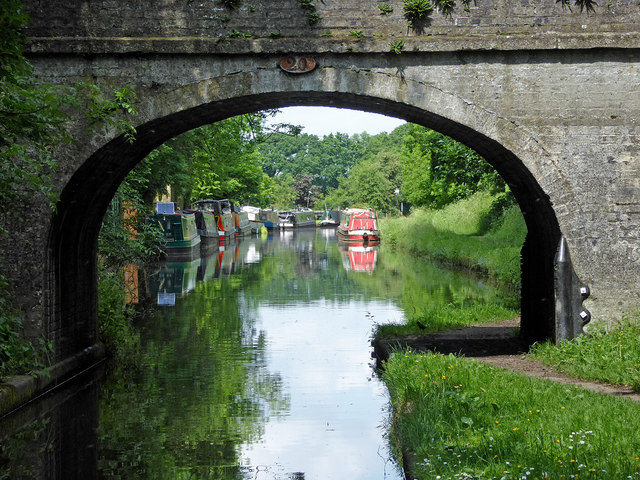 Canal north of Wheaton Aston in Staffordshire