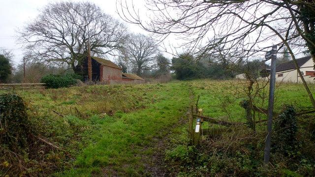 Footpath to Barrow Hill