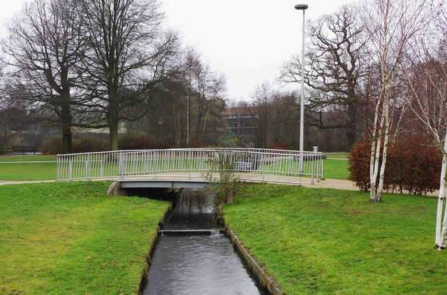 Bridge over the Alder Brook, Tudor Grange Park, Solihull
