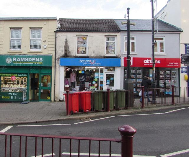 Tenovus charity shop, Cardiff Road, Caerphilly