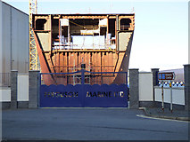 NS3274 : Ferguson Marine shipyard gate by Thomas Nugent