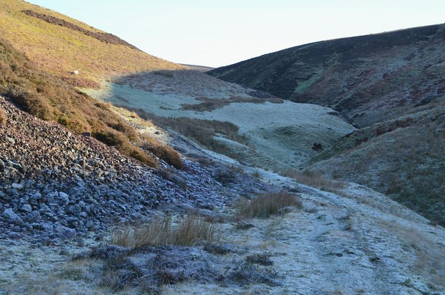 Winter Burn below Borland Hill
