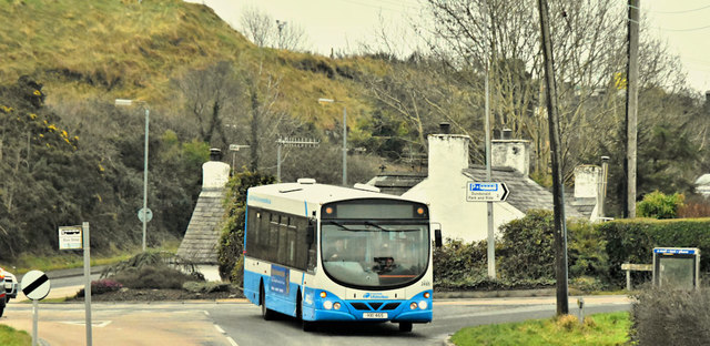 Bus, Craigantlet Crossroads (January 2019)