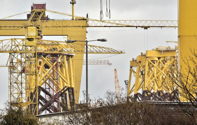 Wind turbine parts, Harland & Wolff, Belfast  -  January 2019(2)