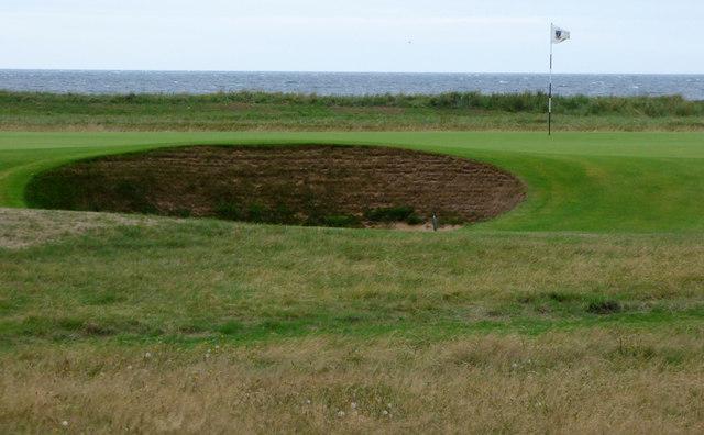 A bunker at Royal Troon Golf Club