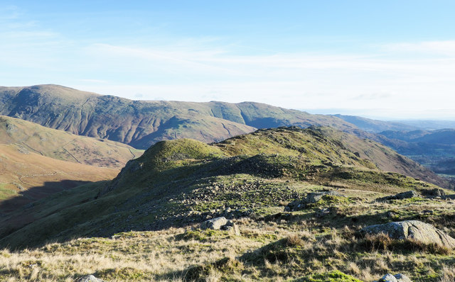 Mountain ridge between valley of Green Burn and Far Easedale