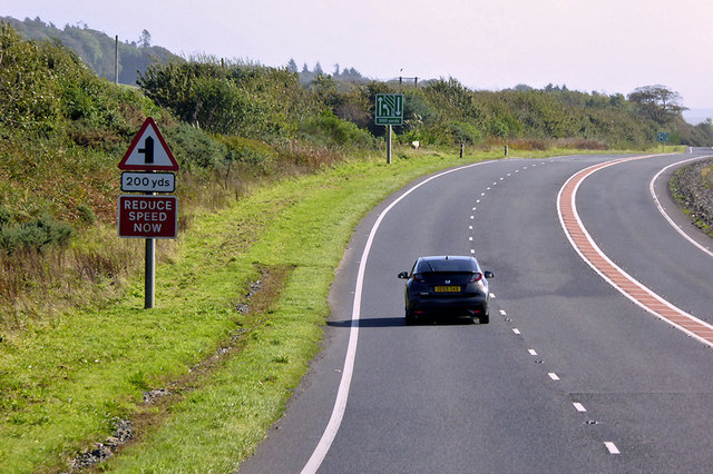 A75 between Castle Kennedy and Dunragit