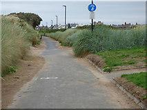 NS3229 : Coastal path at Troon by Thomas Nugent