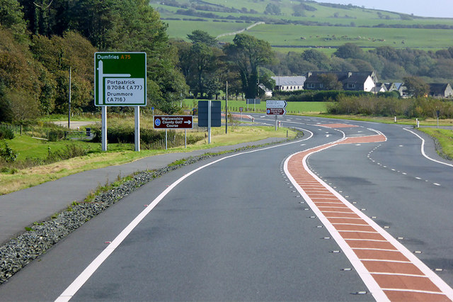 A75 between Dunragit and Glenluce
