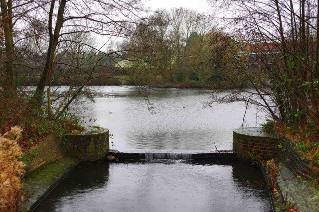 Lake in Tudor Grange Park, Solihull