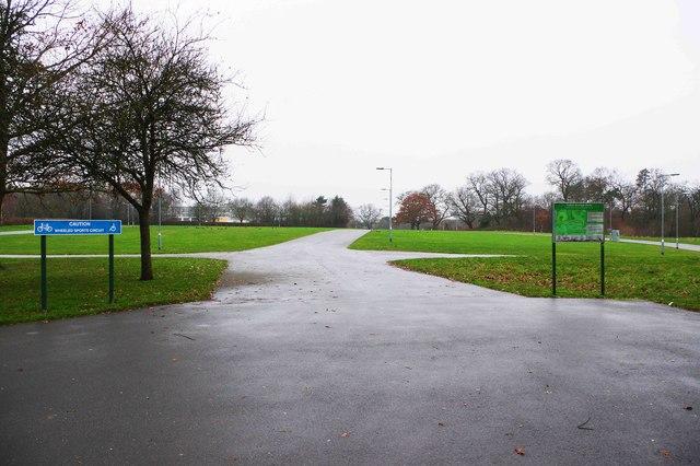 Footpaths in Tudor Grange Park, Solihull