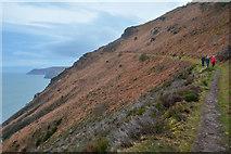 SS6549 : North Devon : South West Coast Path by Lewis Clarke