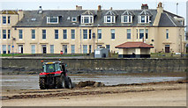 NS3230 : A tractor on the beach at Troon by Thomas Nugent