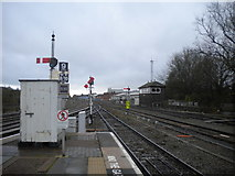 SO8555 : Railway south from Worcester Shrub Hill station by Richard Vince