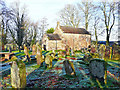 NY5161 : A frosty afternoon at Brampton Old Church by Rose and Trev Clough