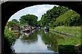 SJ8316 : Canal at High Onn Wharf in Staffordshire by Roger  Kidd