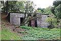 SO4493 : Disused concrete building near Church Stretton by Jeff Buck