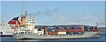 "J3778 : The ""Maike D"", Belfast harbour (January 2019) by Albert Bridge"