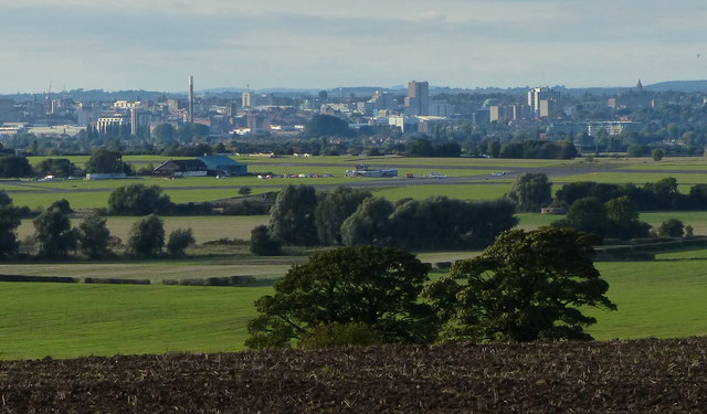 View towards the city of Nottingham