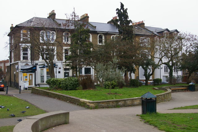 Houses on Stuart Crescent, Wood Green, London N22