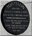 ST1587 : Tonyfelin plaque, Caerphilly by Jaggery