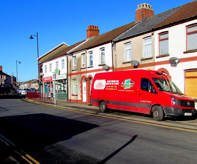 Talgarth Bakery van, Tonyfelin Road, Caerphilly