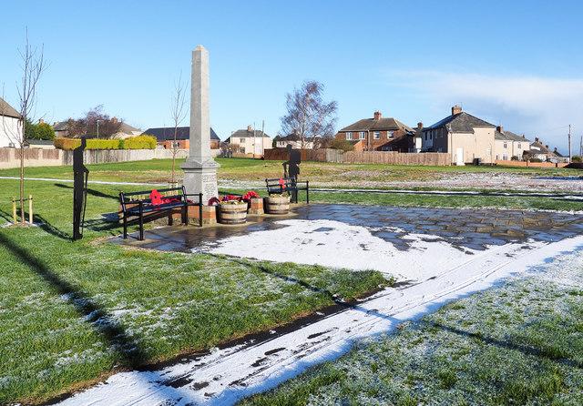 War memorial at Kelloe
