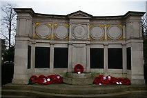 TQ3090 : Wood Green war memorial by Christopher Hilton
