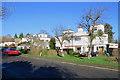 TL3752 : Little Eversden: flat roofs on Harlton Road by John Sutton