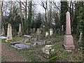 TF4510 : Obelisk memorials in The General Cemetery, Wisbech by Richard Humphrey