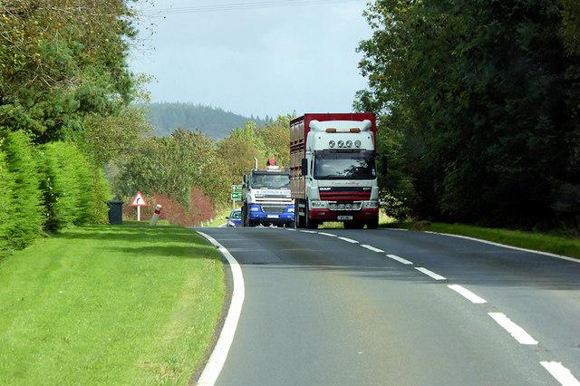 HGV on the A75 near Newton Stewart