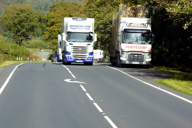 Layby on the A75 near Lanefoot Bridge