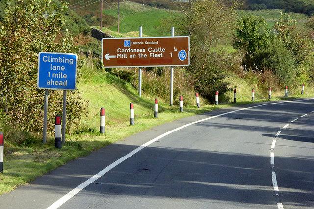 A75 near Cardoness Castle