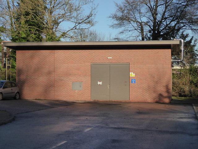 Malvern Community Hospital - emergency generator house