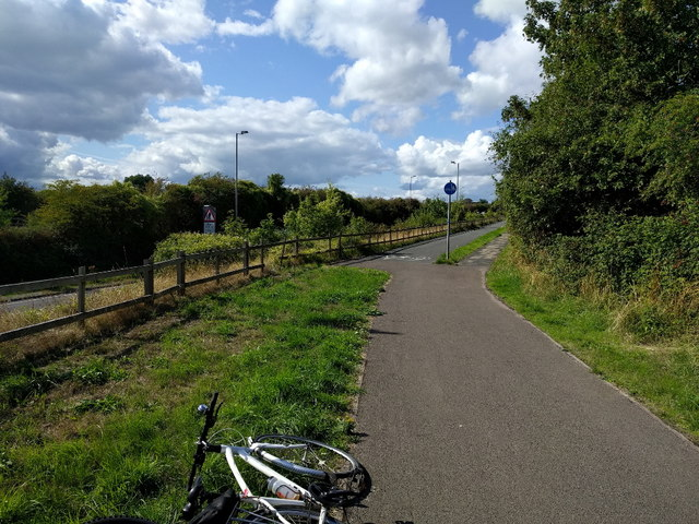 Cycle path next to the A466