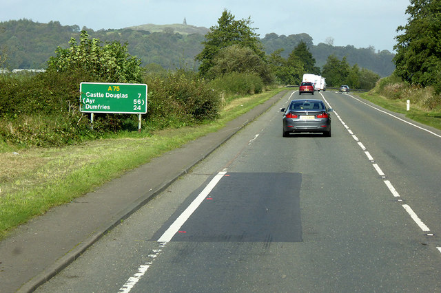 A75 between Twynholm and Ringford