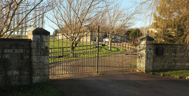 Entrance gates, Burton Grange