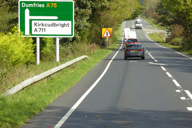 Eastbound A75 near A711 Junction