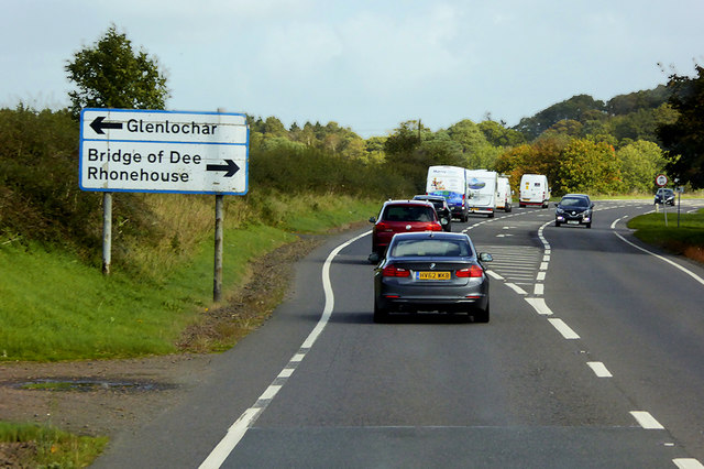 Eastbound A75 near to Bridge of Dee