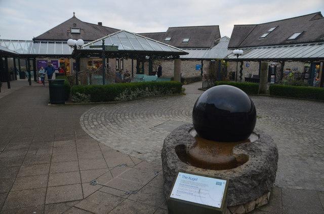 The Kugel Stone at Carsington Visitor Centre, Derbyshire, UK