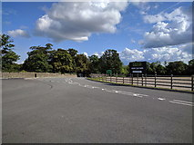 ST5294 : Directions for car park for Chepstow racecourse by Rob Purvis