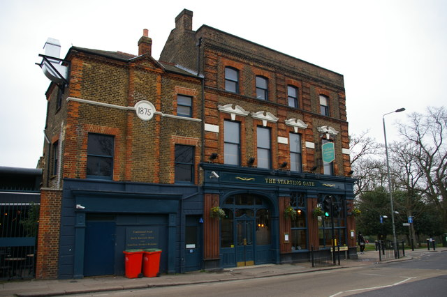 The Starting Gate pub, opposite Alexandra Palace station