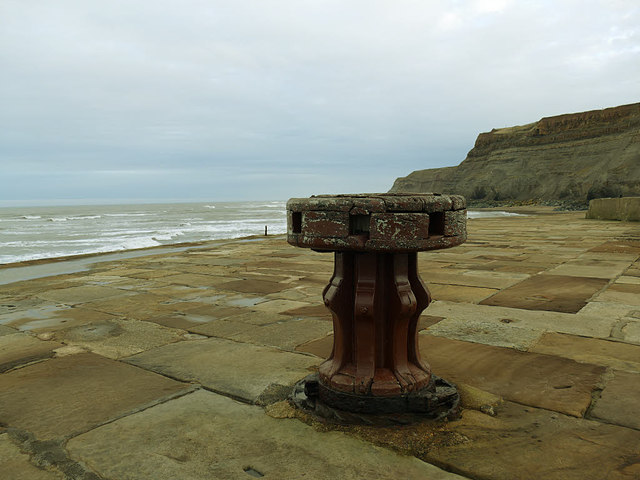 Old capstan on Whitby east pier
