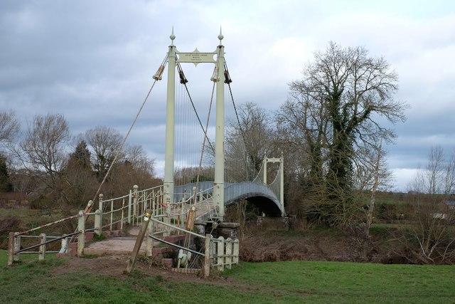 Suspension bridge at Sellack Boat