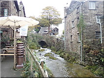 NY3704 : Stock Ghyll on its way through Ambleside by Eirian Evans