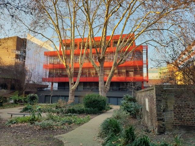 Kurt Geiger headquarters seen from St John's Gardens