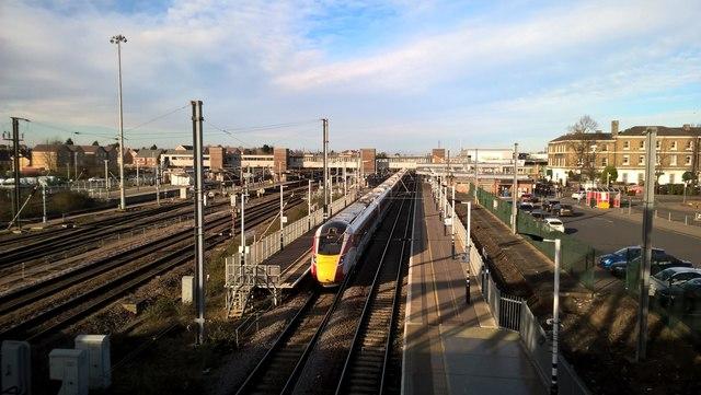 LNER Azuma intercity express train at Peterborough Station