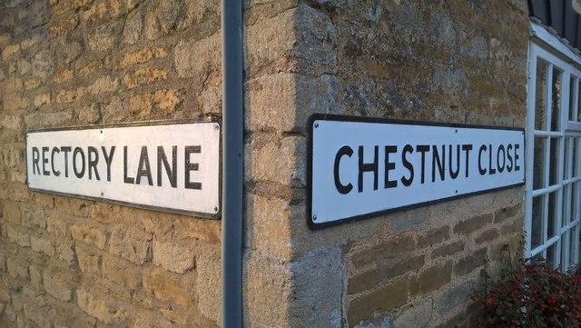 Street signs in Peakirk