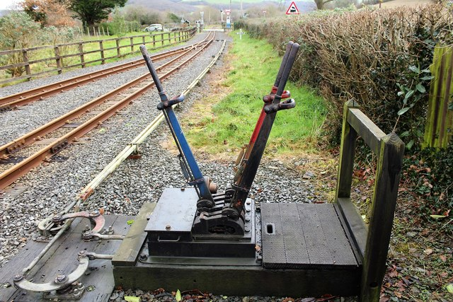 The points mechanism at Capel Bangor station